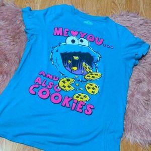 🔥3/30🔥 Y2K Cookie Monster Sesame Street Shirt